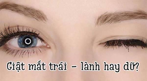 Nháy mắt trái nữ điềm gì