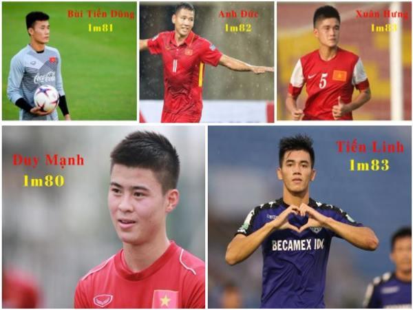 Chiều cao của các cầu thủ Việt Nam