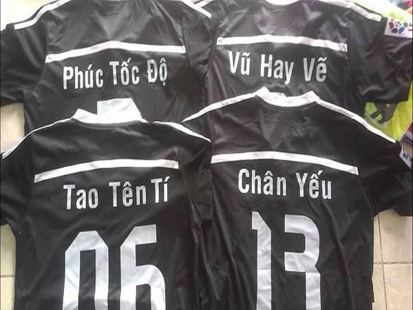 Tên áo bóng đá cực chất theo bảng chữ cái
