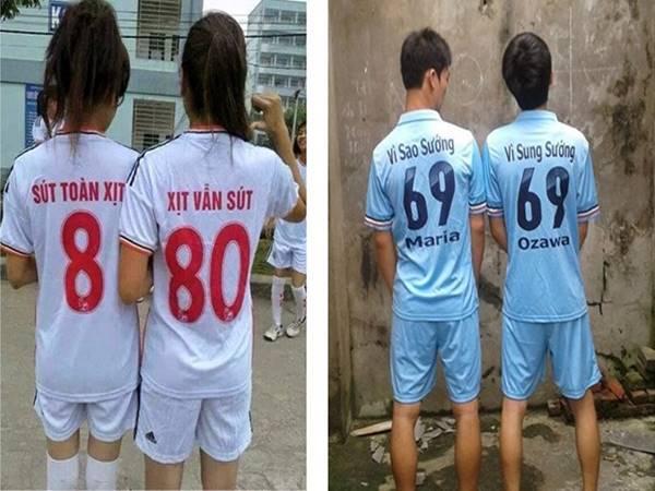 Tên áo bóng đá độc nhất
