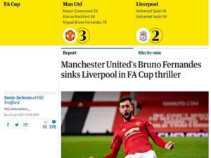 Bóng đá Quốc Tế 25/1: Fernandes tỏa sáng đưa MU hạ Liverpool